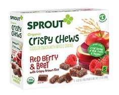 Sprout Organic Baby Food, Sprout Crispy Chews Organic Toddler Snacks, Red Berry & Beet, 3.15 Ounce (5 count)   Easy Buy