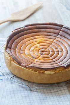 Un grand classique de la cuisine alsacienne: le Käseküche, tarte au fromage blanc alsacienne.