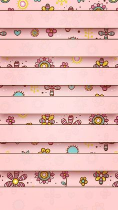 ↑↑TAP AND GET THE FREE APP! Shelves Сhildren's Вrawings Pink Illustration Cute Art Flowers Sun HD iPhone 6 plus Wallpaper