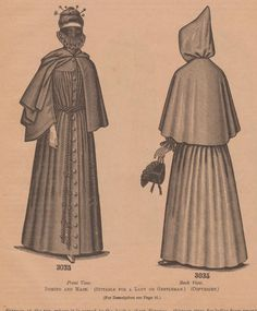 Domino and Mask from Delineator, 1890