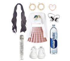Outfit Inspired by Jennie's Encore Stage outfit for BLACKPINK IN YOUR AREA SEOUL concert. Discover outfit ideas for made with the shoplook outfit maker. How to wear ideas for Glaceau Smartwater Vapor Distilled and white sneaker Kpop Fashion Outfits, Stage Outfits, Edgy Outfits, Retro Outfits, Cute Outfits, Concert Wear, Movie Inspired Outfits, Ariana Grande Outfits, Korea Fashion