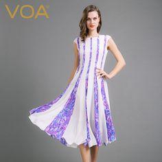 Encontrar Más Vestidos Información acerca de VOA 2016 nueva púrpura cabeza de la manga delgado vestido de seda en un gran vestidos mujer A6723, alta calidad vestido perdido, China vestido blanco anillos de oro Proveedores, barato vestidos tall de VOA Flagship Shop en Aliexpress.com