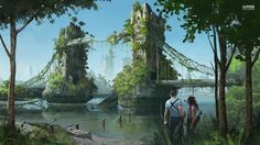 Find the best Post Apocalypse Wallpaper on GetWallpapers. We have background pictures for you! Post Apocalypse, Apocalypse World, Fantasy World, Fantasy Art, Apocalypse Landscape, Post Apocalyptic City, Design Spartan, Fantasy Landscape, End Of The World