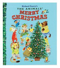 """The Animals' Merry Christmas,"" Richard Scarry Christmas Books For Kids, Christmas Time, Vintage Christmas, Merry Christmas, Christmas Ornaments, Christmas Ideas, Joyous Celebration, Richard Scarry, Inspirational Artwork"