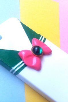 Custom Sailor Moon Inspired iPhone 4, 4S, 5 phone case Hand Sculpted and Painted Sailor Outfit-Sailor Jupiter
