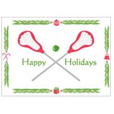 Happy Holidays Lacrosse Christmas Cards | Lacrosse Gifts | LaxWorld.com