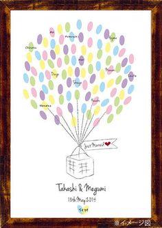 Wedding Balloon ウエディングバルーン|その他 結婚式ペーパーアイテムや披露宴のパンフレット形の席次表など。こだわりブライダルのお手伝いトゥルーハートイズプット。
