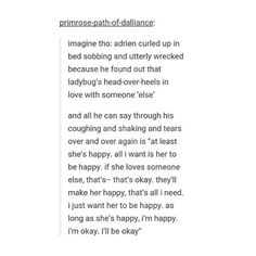 WELL, MY HEART JUST BROKE. WHY WOULD YOU HEADCANON SOMETHING LIKE THAT?!