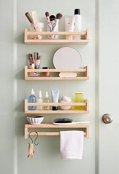 IKEA hacks: you can do all of this with the BEKVÄM spice rack - Eigen Huis e . - IKEA hacks: you can do all of this with the BEKVÄM spice rack – Own Home and Garden - Diy Bathroom, Bathroom Interior, Bathroom Ideas, Remodel Bathroom, Master Bathroom, Bathroom Hacks, Simple Bathroom, Bathroom Designs, Bathroom Remodeling