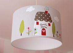 ★Home sweet home★, Lampenschirm 40 cm von Fräulein Lampe auf DaWanda.com