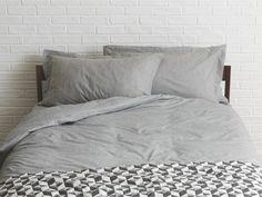 SKYE MULTI-COLOURED Cotton Grey Egyptian cotton kingsize duvet cover - HabitatUK