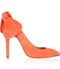 Carven Suede Slingbacks. Love the bow.