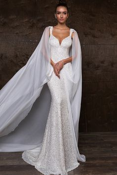 2018 recién llegado de las correas de la sirena de encaje y gasa vestidos de novia tribunal tren US$ 369.99 VEPKHJRK6X - 2016Vestido.com for mobile