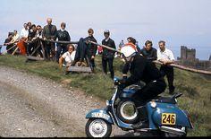 peel hill climb iom 1969 — blue vespa ss90