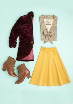 Booties, blazers, and skirts, oh my! It's feelin' like fall.