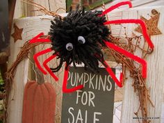 Pom Pom Spiders- really easy. Maybe for Halloween party?