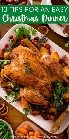 I share my 10 simple tips to make sure you have a stress free Christmas dinner! Make ahead tips are included! Save time with my stress free holiday method! #makeaheadchristmas #christmasprep #stressfreeholiday #holidaytips #christmasdinner