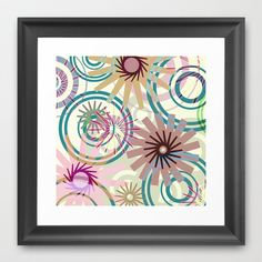 PATTERN-2 Framed Art Print by Pia Schneider [atelier COLOUR-VISION]