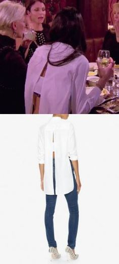 fc9df786866b Jules Wainstein s white Cut Out back blouse on Real Housewives of New York  Season 8 Episode