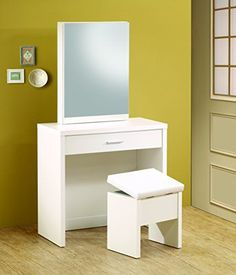 Sleek and simply yet highly functional, this vanity set contributes both fashion and practicality to your bedroom or changing area. Hidden storage in the mirror includes shelves and hooks, while a partitioned drawer in the front of the piece offers small compartments for ultimate organization.... more details available at https://furniture.bestselleroutlets.com/bedroom-furniture/vanities-vanity-benches/product-review-for-coaster-home-furnishings-contemporary-3-piece-vanity-ta