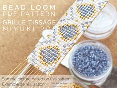 PDF grid pattern DIY for Miyuki beads to download. Recommended printing format A4. This pattern is meant to be used to create a beadweaving using a bead loom and miyuki Delica beads 11/0. Dimensions of the finished beadwork: 1.5 cm x 15 cm. Miyuki delica beads colours references