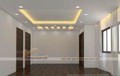 Thiết kế trần thạch cao cho nhà chị Hằng - Định Công - Hoàng Mai Pop False Ceiling Design, Ceiling Design Living Room, Ceiling Decor, Living Room Designs, Living Room Decor, Bedroom Pop Design, Bedroom Styles, Modern Bedroom, Gypsum Ceiling