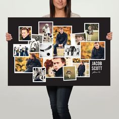 Why make your own photo board when you can create a custom poster to match your graduation party decorations! Save time fussing with prints and let us do all the work! These larger-size 36