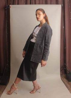 Japanese Kimono Dark Denim Wash Unisex Jacket   Consttant Male Kimono, Kimono Jacket, Black Denim Jeans, Dark Denim, Fall Jackets, Jackets For Women, Modern Hipster, Japanese Kimono, Kimono Fashion