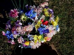 Spring headstone spray