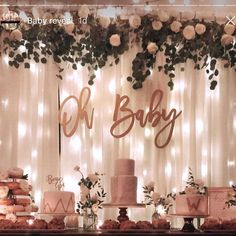 Oh baby wood baby shower sign baby shower backdrop keepsake gift gender reveal baby announcement photo shoot prop 1001 + ides comment annoncer que c est une fille Cadeau Baby Shower, Deco Baby Shower, Cute Baby Shower Ideas, Baby Girl Shower Themes, Girl Baby Shower Decorations, Baby Shower Signs, Floral Baby Shower, Baby Shower Gender Reveal, Baby Boy Shower