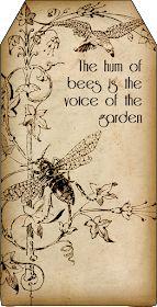 Bountiful Heirlooms: Free Printables: Bee and Beekeeping Tags vintage paper gift tag Tarjetas Diy, Paper Art, Paper Crafts, Diy Crafts, Bee Art, Bee Happy, Happy Life, Save The Bees, Bees Knees