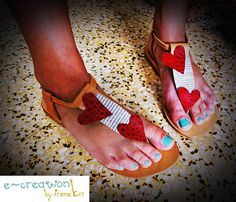 Leather Collage Sandals  by e-creation