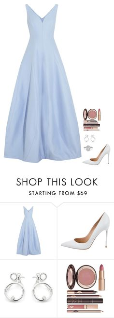 """""""Untitled #707"""" by h1234l on Polyvore featuring Halston Heritage, Gianvito Rossi and Charlotte Tilbury"""