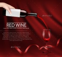 Vector Illustration of a Hand Holding a Glass Wine