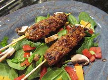 Kabobs are fun and tasty, and with the warm weather, they're perfect to transition from spring into summer. My guys absolutely loved these. Thumbs up!