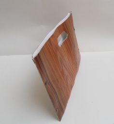 eco wood clutch with handle XL SIZE rosewood by FuScra on Etsy