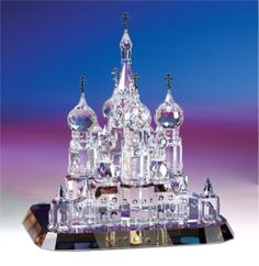 St. Basil's Cathedral is one of several striking architectural crystal sculptures from Crystal World's Gifts of Distinction Collection - all...