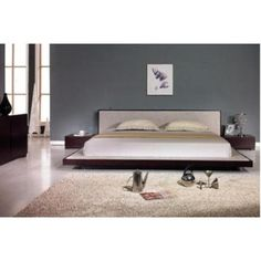 VIG Comfy Platform Bed - Size: Queen