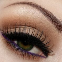 Neutral eye with a pop of color in the waterline....gorgeous!
