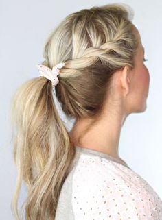 wedding hairstyles easy hairstyles hairstyles for school hairstyles diy hairstyles for round faces p Easy Work Hairstyles, Pony Hairstyles, Pretty Hairstyles, Hairstyle Ideas, Twisted Hairstyles, Wedding Hairstyles, Everyday Hairstyles, Natural Hairstyles, Braid Hairstyles