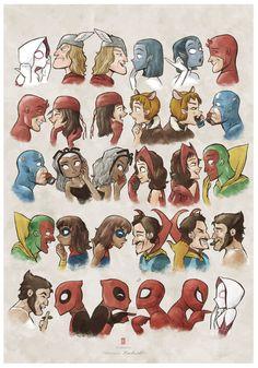herochan: Marvel Gossip Art by Hiro Kawahara