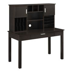 Found it at Wayfair - Desk with Organizational Hutch in Espresso by Altra furniture Home Furniture, Furniture Design, Student Desks, Lowes Home Improvements, Desk Chair, New Homes, Walmart, Shelves, Storage