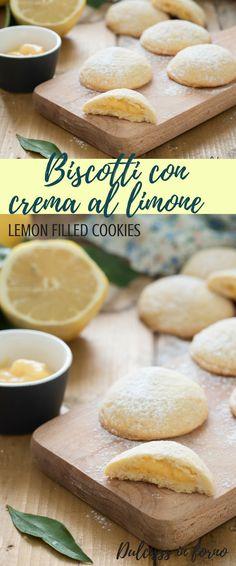Biscotti ripieni con crema al limone