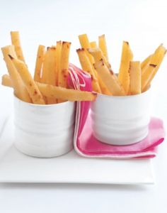 Polenta Fries: Quick and Easy | Engine 2 Diet | #recipe #vegan #plantstrong