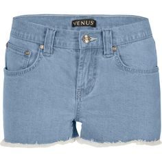 Venus Women's Plus Size Cut Off Jean Shorts (83 PEN) ❤ liked on Polyvore featuring shorts, blue, blue shorts, denim shorts, blue denim shorts, denim cut-off shorts and short denim shorts