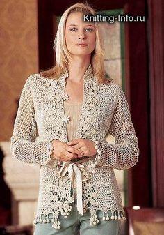 Inspiration for summer sweater using Freeform crochet motifs