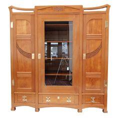 Bücherschrank - Esche - Jugendstil - Antiquitäten - Antik - Möbel