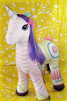 Giant Plush Unicorn by Spoonflower Fabrics, via Flickr