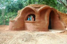 Tiny Earthbag Homes, why not build a place to store planting materials, a garden workshop?