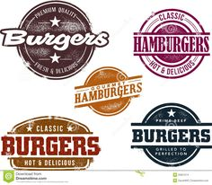 Vintage Style Burger Stamps - Download From Over 41 Million High Quality Stock Photos, Images, Vectors. Sign up for FREE today. Image: 25651574